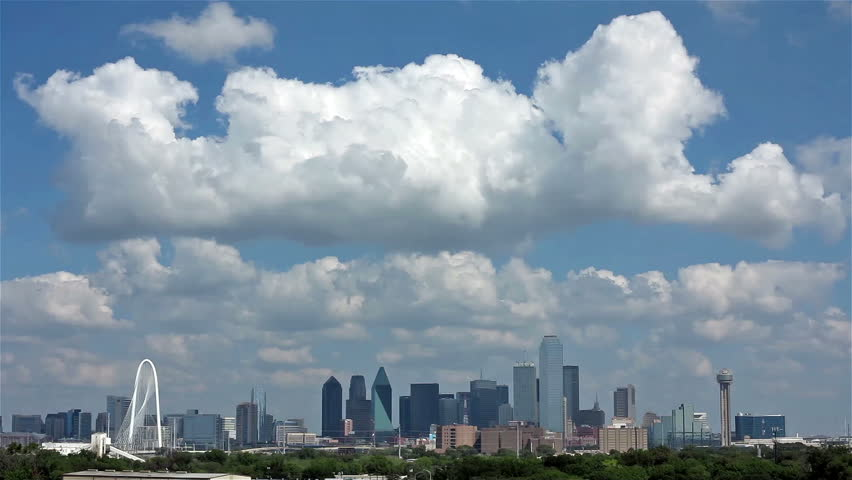 DALLAS-OCTOBER 1: A Time Lapse of Skyline Dallas on October 1, 2013 in Dallas, Texas. Dallas is the ninth most populous city in the United States and the third most populous city in the state of Texas