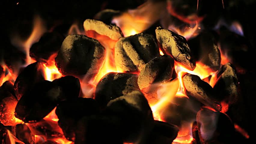 Charcoal fire  | Shutterstock HD Video #5089265