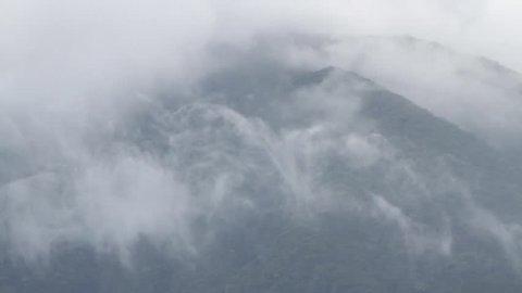 Mountains and mist above Sapa Vietnam