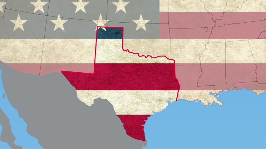 Texas pull out, smooth USA Map, vector origin. No signs or letters. All 50 states plus capitol city available. Suitable for elections, documentaries, presentations, news.