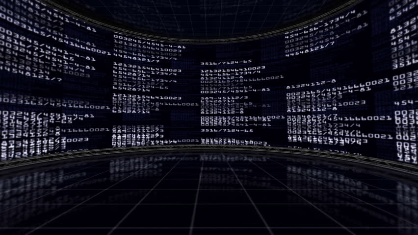Numbers in Monitors Background   Shutterstock HD Video #5114990