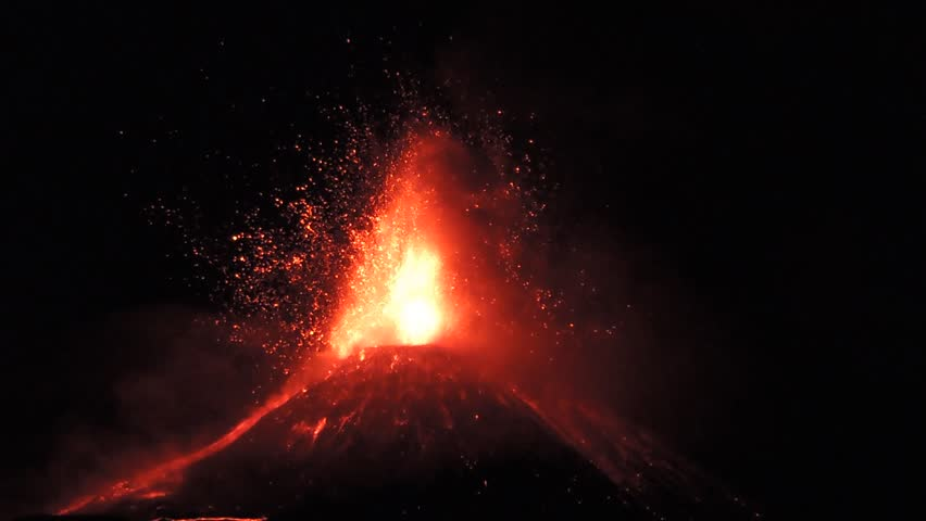 Volcano Etna eruption, Sicily, Italy. 28 november 2013.