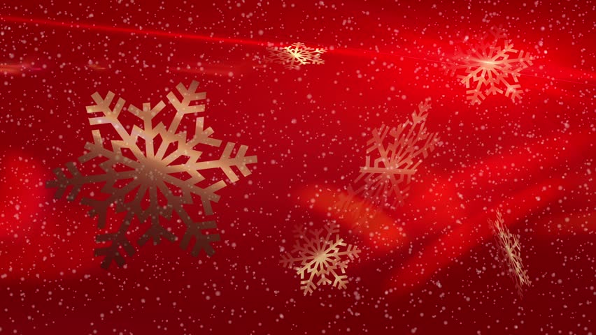 Animated Christmas abstract background with snow flakes - Just add your Christmas title, wishes or logo