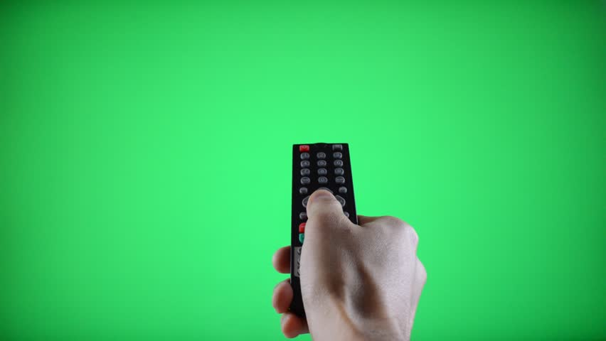 Remote Control Television changing three channels with Chroma Key Green Screen   Shutterstock HD Video #5159759