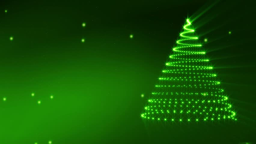 Animated Festive Christmas background with tree and snow flakes - Just add your Christmas title, wishes or logo