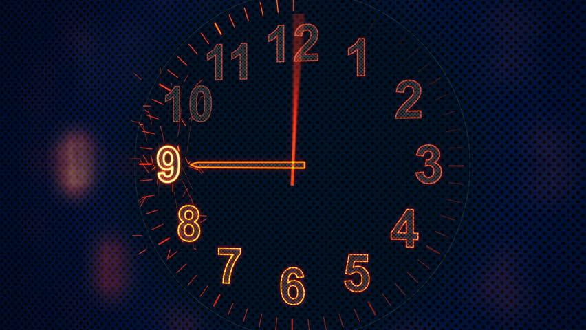 animation clock timelapse seamless loop