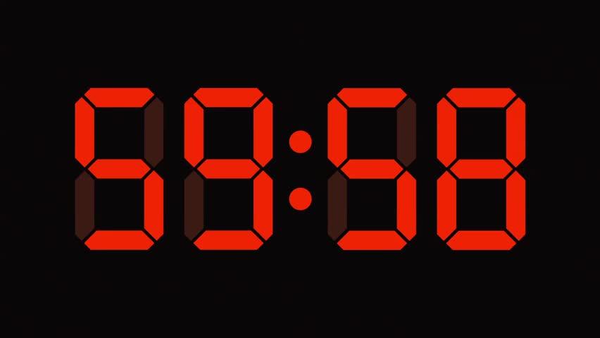 Digital clock countdown from sixty to zero - full HD - LCD display - orange numbers  | Shutterstock HD Video #5175536