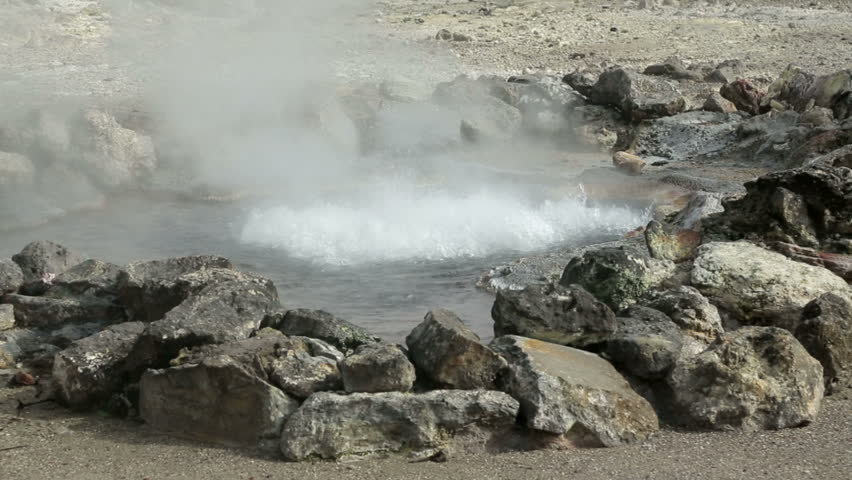 Hot springs, Furnas, San Miguel island, Azores, Portugal | Shutterstock HD Video #5177879