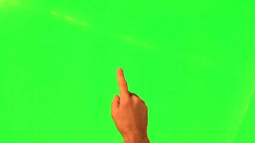Touchscreen gestures - male hand - green screen and alpha matte   Shutterstock HD Video #5180009