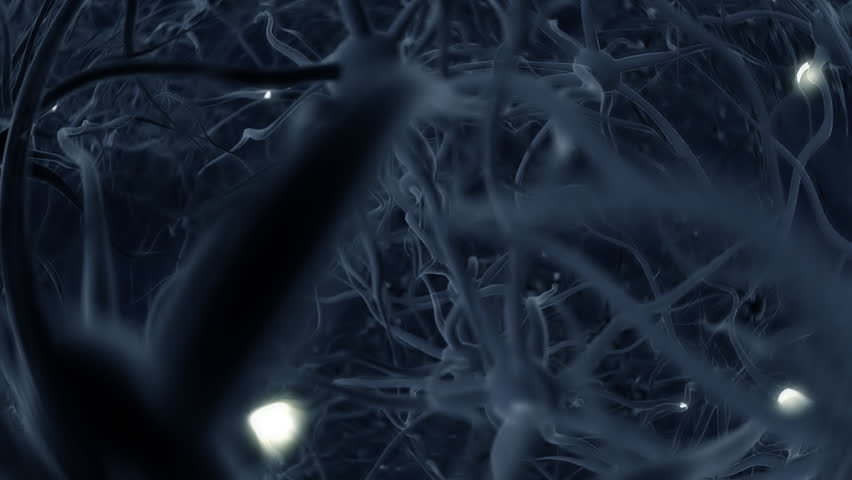 Neurons, brainstorm, seamless loop, HD1080p