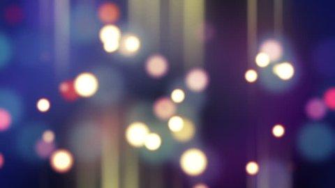 blurred glowing bokeh lights loop background