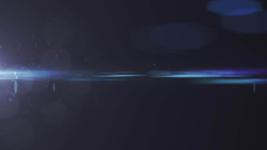 Lens flare effect on black background (blue) | Shutterstock HD Video #5216318
