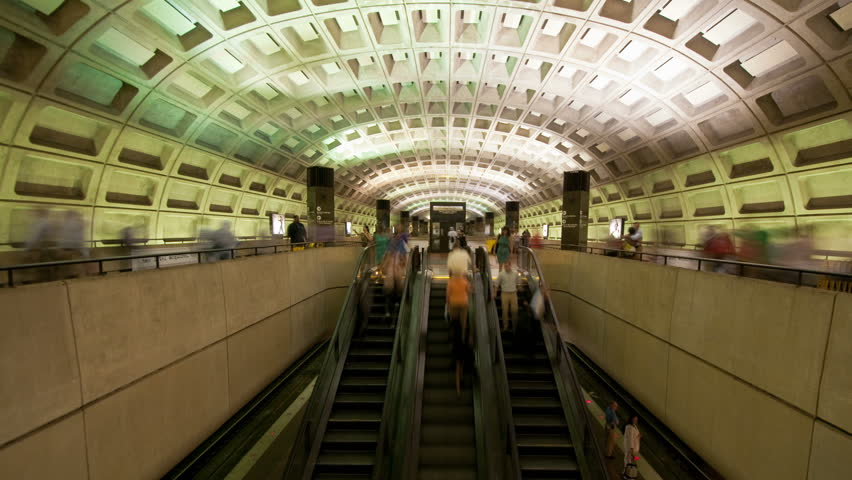 Washington DC Metro Rail / Subway - Circa 2012 - 4K, UHD, Ultra HD resolution