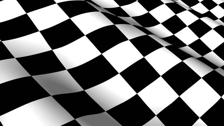 Checkered racing flag - seamless looping HDTV