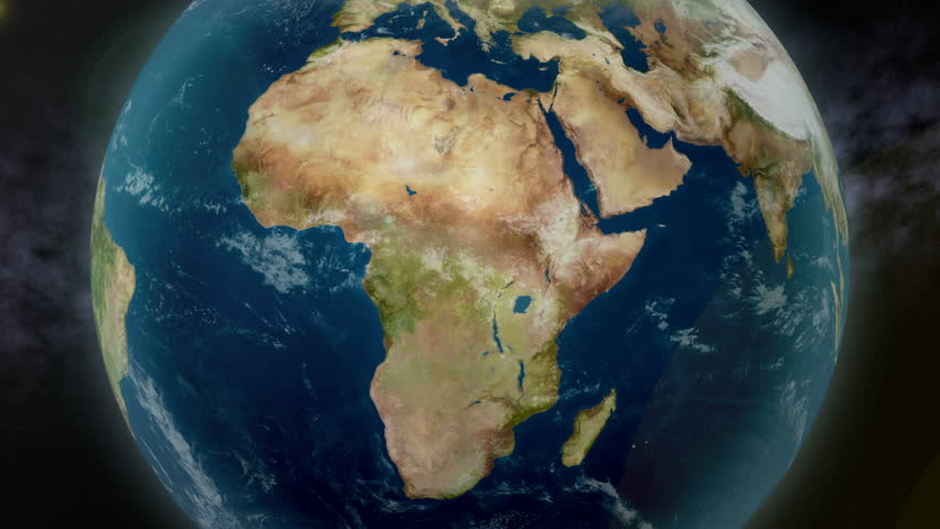 Earth zoom to Africa. Available in 4K Ultra HD.