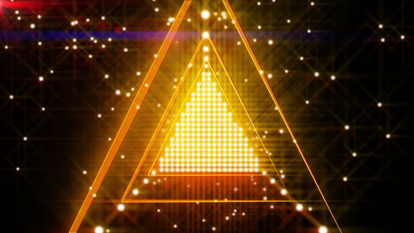 Orange Spinning Triangle Lights Abstract Background for use with music videos | Shutterstock HD Video #5238101