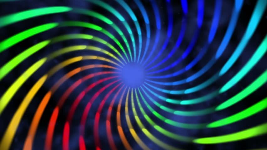 colorful hypnotic spiral iris vortex abstract motion background for use with music videos #5244764