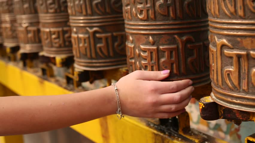 In buddhist monastery (stupa Boudhanath in Kathmandu, Nepal) #5245463