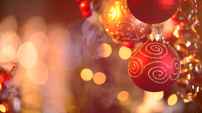 Christmas and New Year Decoration. Abstract Blurred Bokeh Holiday Background. Blinking Garland. Christmas Tree Lights Twinkling. Glowing Background | Shutterstock HD Video #5259947