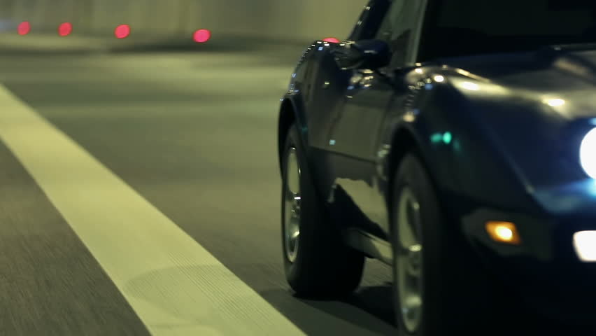 Side shot of Corvette at the night drive | Shutterstock HD Video #5260052