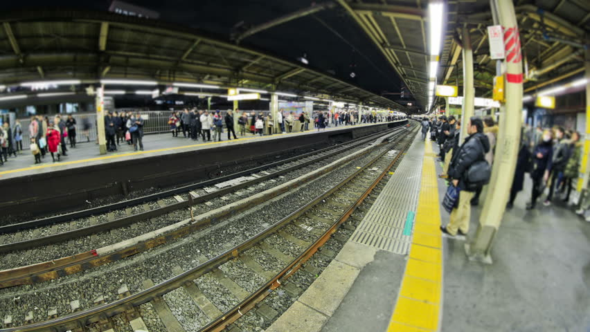 Tokyo train station time lapse at night. | Shutterstock HD Video #5263355