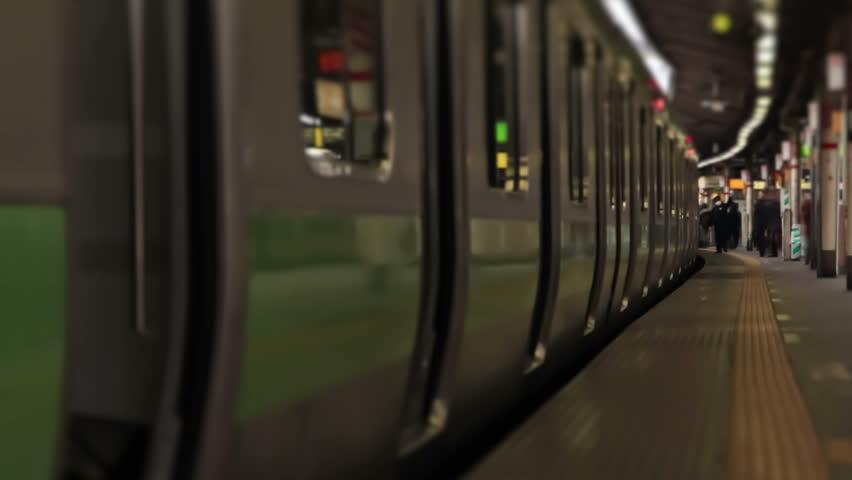 Tokyo train station time lapse   Shutterstock HD Video #5263379