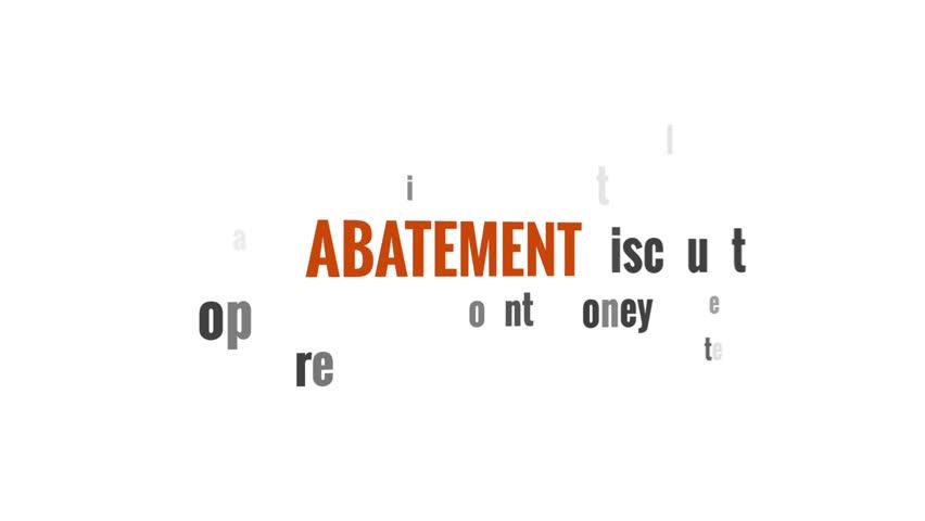 Header of abatement