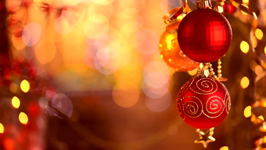 Christmas and New Year Decoration. Abstract Blurred Bokeh Holiday Background. Blinking Garland. Christmas Tree Lights Twinkling. | Shutterstock HD Video #5288393