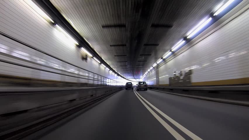 Cars Drive Through and Out of Holland Tunnel | Shutterstock HD Video #5288570