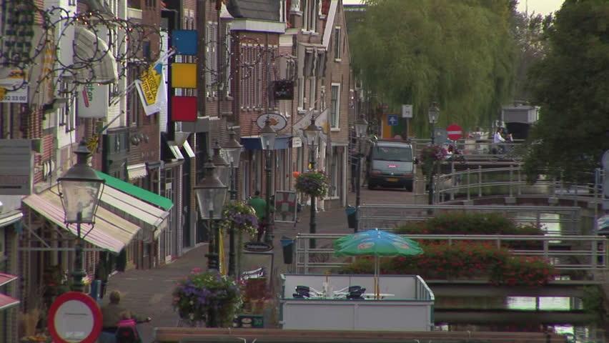 Dutch street scene back zoom view Maassluis The Netherlands #5290196