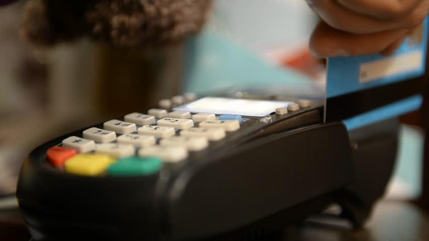 Credit card payment terminal. Transfer payment