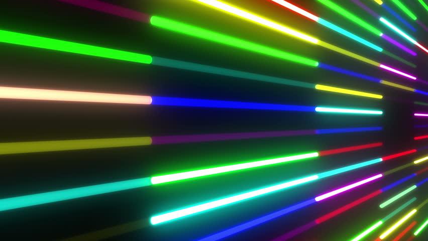 Neon Tube illumination wall abstract background.   Shutterstock HD Video #5311841