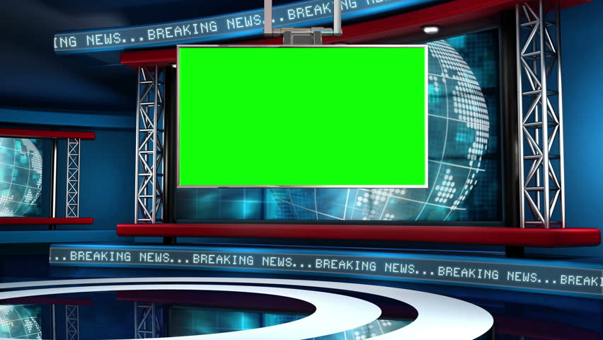 This looping news set is the perfect backdrop for any green screen or chroma key video production.  It features a  clean and modern layout with subtle animation and imagery. | Shutterstock HD Video #5317148