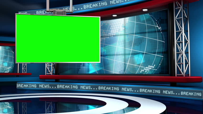 This looping news set is the perfect backdrop for any green screen or chroma key video production.  It features a  clean and modern layout with subtle animation and imagery.  | Shutterstock HD Video #5317151