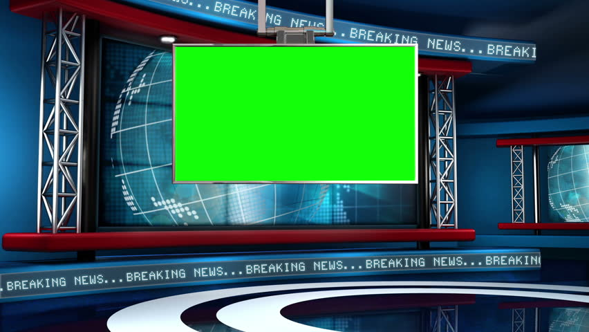 This looping news set is the perfect backdrop for any green screen or chroma key video production.  It features a  clean and modern layout with subtle animation and imagery. | Shutterstock HD Video #5317181