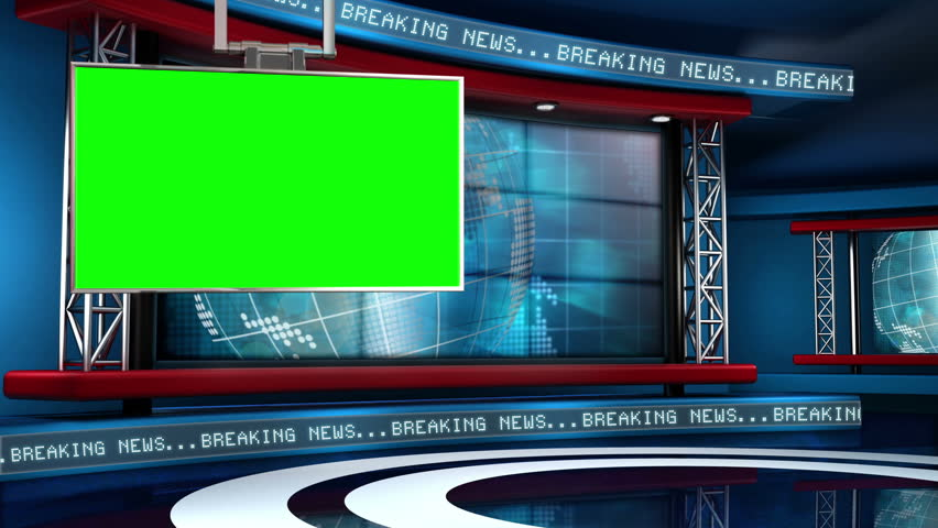 This looping news set is the perfect backdrop for any green screen or chroma key video production.  It features a  clean and modern layout with subtle animation and imagery. | Shutterstock HD Video #5317187