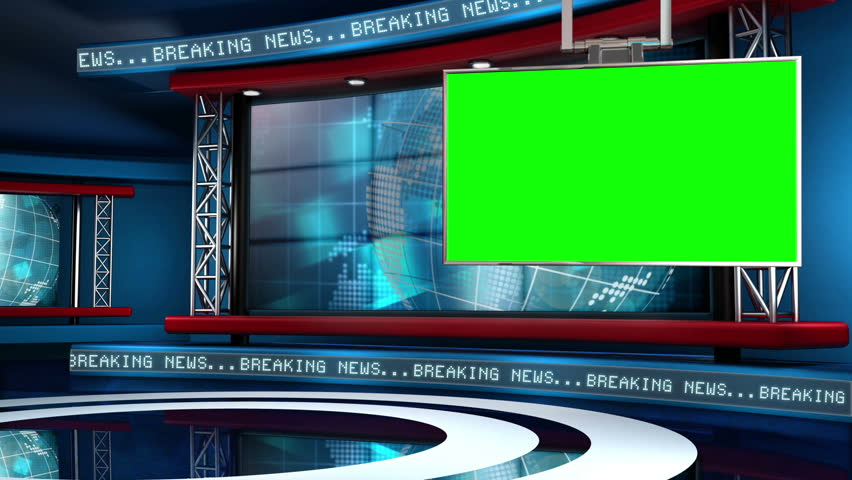 This looping news set is the perfect backdrop for any green screen or chroma key video production.  It features a  clean and modern layout with subtle animation and imagery. | Shutterstock HD Video #5317196