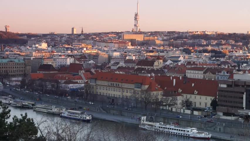 Television Tower in Prague, Czech republic.  | Shutterstock HD Video #5322872