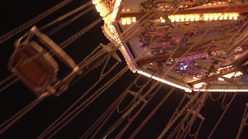 Fairground ride with empty seats Royalty-Free Stock Footage #5323130