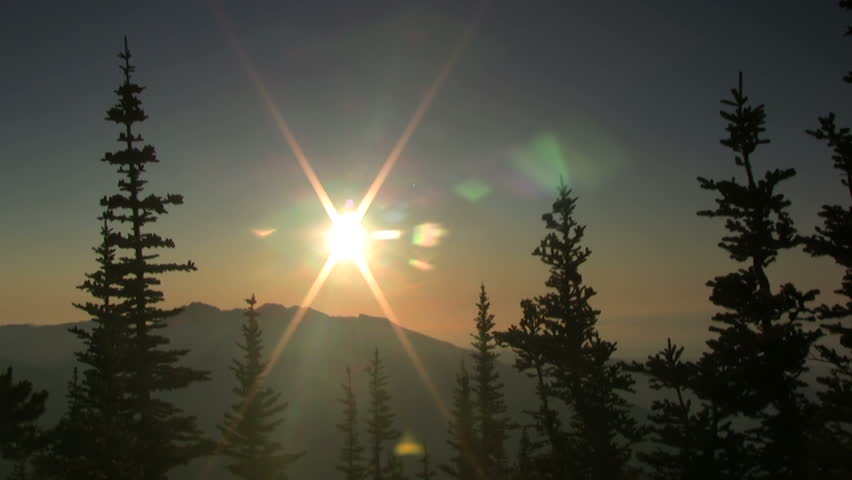 HD 1080i Olympic Mountain sunset time-lapse. #534523