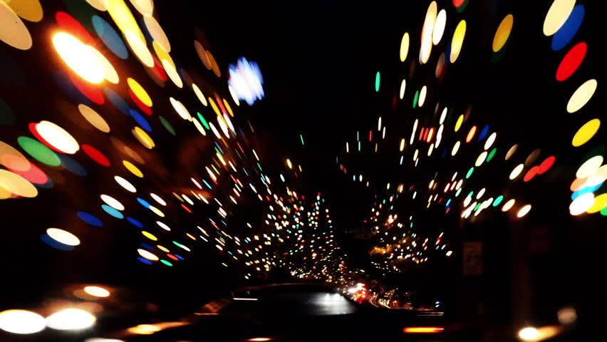Tilt Shift Time Lapse of Holiday Illumination at Christmas Lane in Altadena, Caliornia