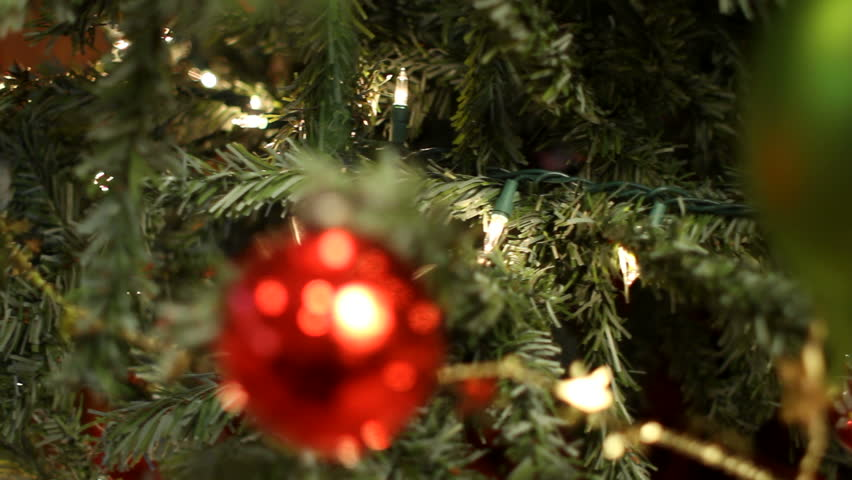 Christmas tree and gifts. Shot with a Canon 7d and a professional slider. | Shutterstock HD Video #5369507