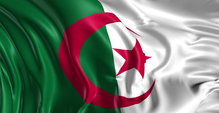 Flag of Algeria Beautiful 3d : vidéos de stock (100 % libres de ...