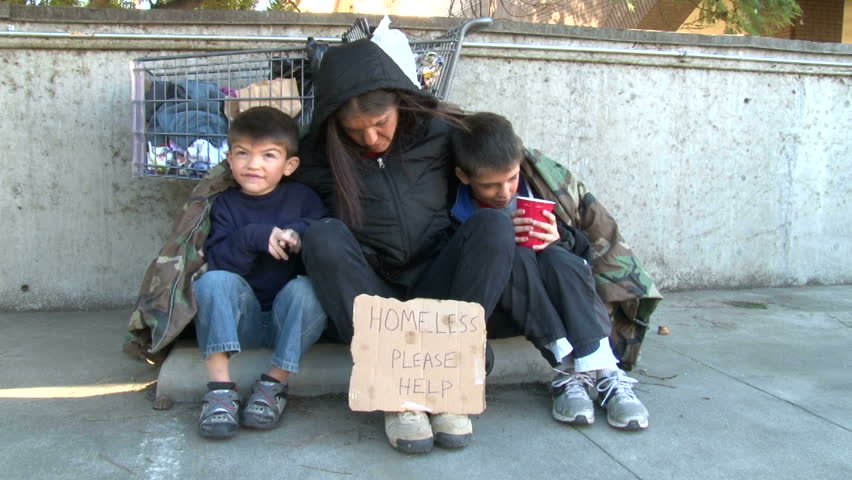 Homeless Family. Shot in Riverside, Stock Footage Video (100% Royalty-free)  5376269 | Shutterstock
