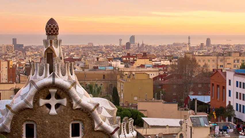 Parc Guell Panorama Zoom Out Stock Footage Video 100 Royalty Free 5378717 Shutterstock