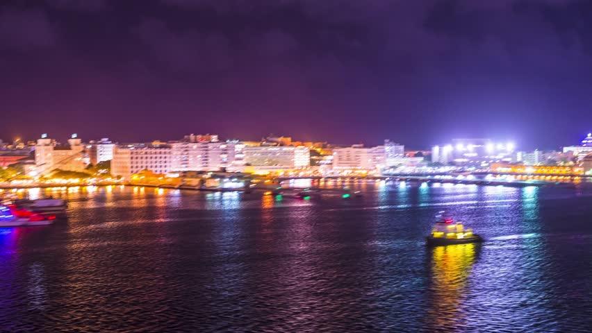 San Juan, Puerto Rico viewed from the coast. pov