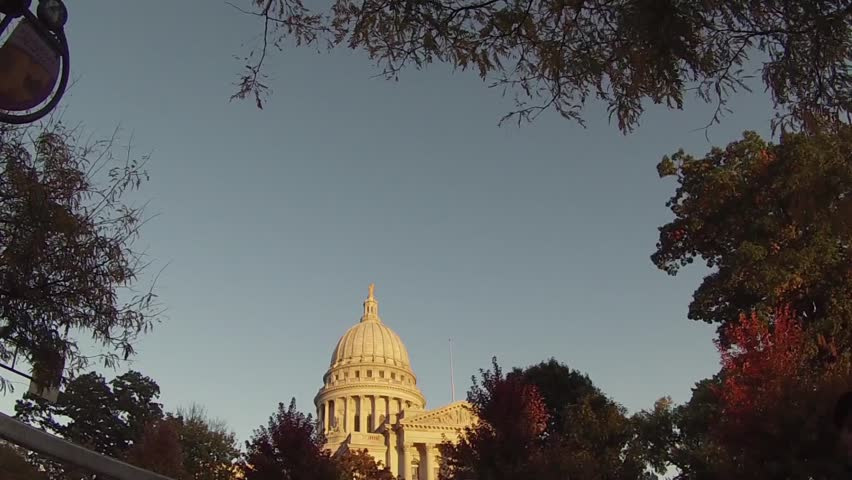 This is a shot of Madison Capital in Chicago, Illinois.  | Shutterstock HD Video #5403413