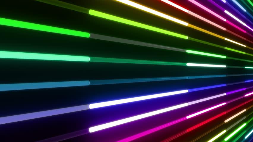 Neon Tube illumination wall abstract background.   Shutterstock HD Video #5437244