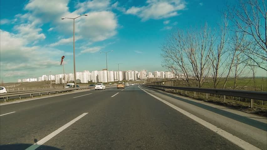Driving in city | Shutterstock HD Video #5443376