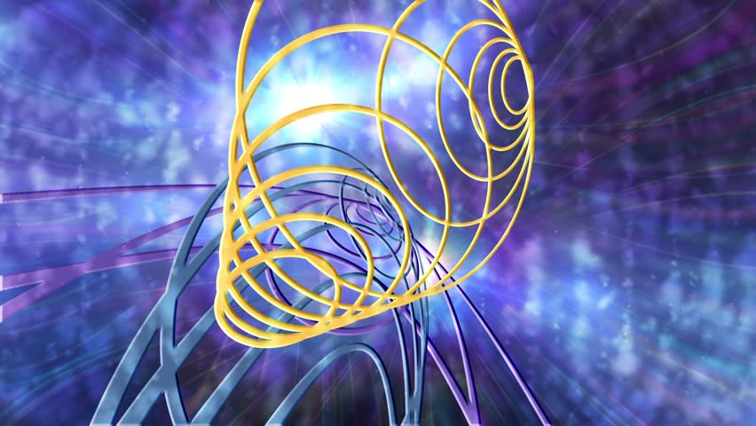Spinning Circles Lights Abstract Background for use with music videos | Shutterstock HD Video #5446982